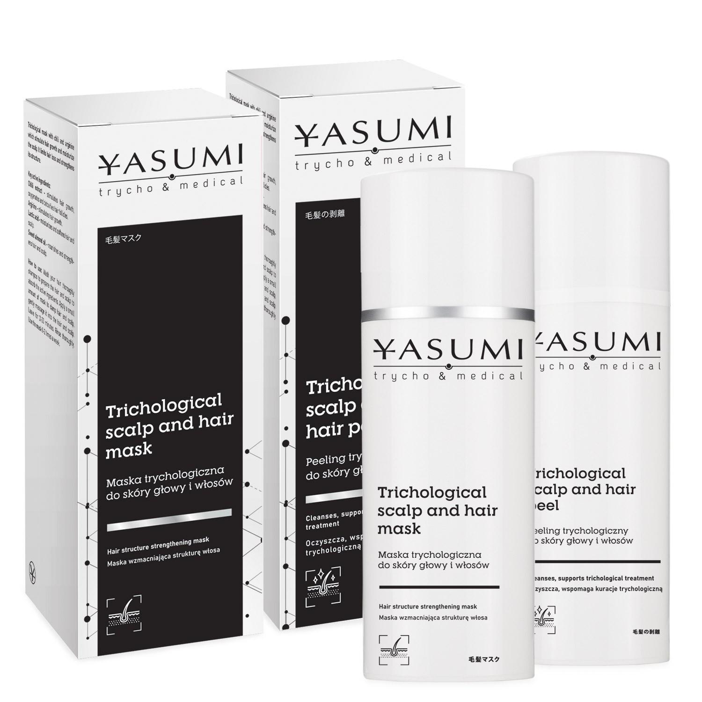 Zestaw Maska trychologiczna do skóry głowy i włosów 100 ml + Peeling trychologiczny do skóry głowy i włosów 50 ml